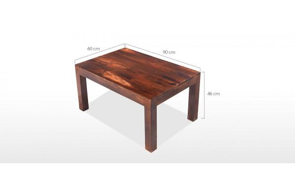 Cube Sheesham 90 Cm Coffee Table Quercus Living