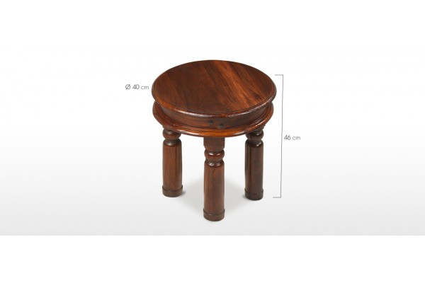 Jali Sheesham 40 Cm Round Thakat Coffee Table Quercus Living