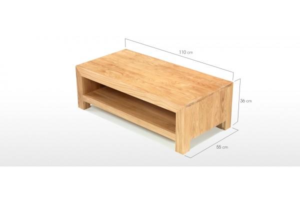 Cube Oak Modern Coffee Table