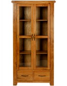 Barham Oak Glazed Display Cabinet