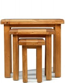 Barham Oak Nest of 3 Tables