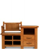 Barham Oak Hall Shoe Storage Bench