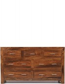 Cube Sheesham 7 Drawer Chest of Drawers