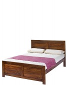 Cube Sheesham King Size Bed (5')