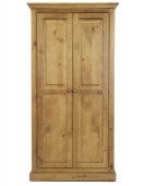 Essentials Pine Full Hanging Double Wardrobe