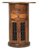 Jali Sheesham Oval Drum Chest