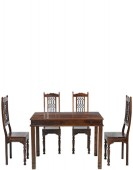Jali Sheesham 160 cm Chunky Dining Table and 4 Chairs