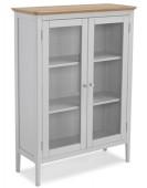 Alsager Oak Glazed Cabinet