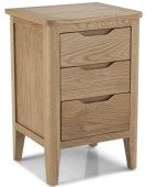 Kutaz Oak 3 Drawer Bedside