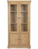 Kilmar Natural Oak Living & Dining Glass Display Cabinet