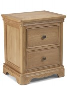 Kilmar Natural Oak Bedroom Bedside Cabinet