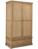 Kilmar Natural Oak Bedroom Double Wardrobe With Drawer