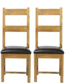 Barham Oak Dining Chairs - Pair