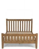 """Rustic Oak Double Bed (4' 6"""")"""