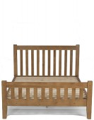 Rustic Oak King Size Bed (5')