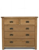 Rustic Oak 2 Over 3 Chest of Drawers