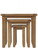 Rustic Oak Nest of 3 Tables