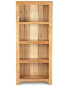 Cube Oak Solid Bookcase
