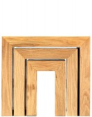 Cube Oak Nest of 3 Tables