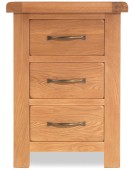 Marton Oak Large 3 Drawer Bedside