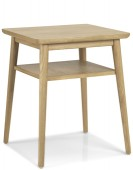 Skiena Oak Lamp Table With Shelve