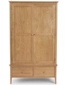 Kassay Oak Double Wardrobe with Drawer