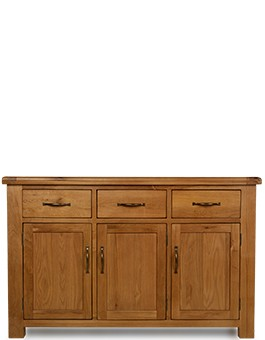 Barham Oak Large 3 Door, 3 Drawer Sideboard
