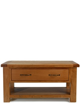 Barham Oak Coffee Table with 2 Drawers