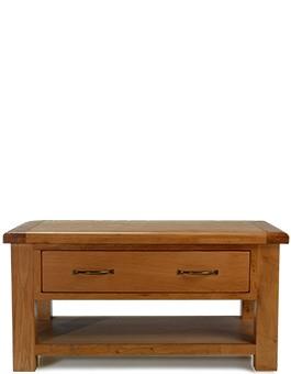 Barham Oak Coffee Table with 2 Drawers