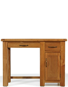 Barham Oak Single Pedestal Computer Desk
