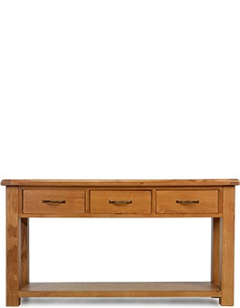 Barham Oak Large Console Table