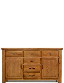 Barham Oak Large 2 Door, 6 Drawer Sideboard