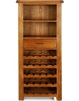 Barham Oak Tall Wine Rack Unit