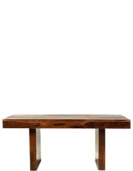 Handcrafted cube sheesham furniture quercus living for Small block coffee table