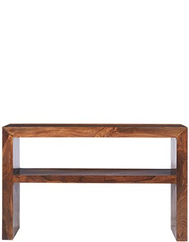 Cube Sheesham Console Table