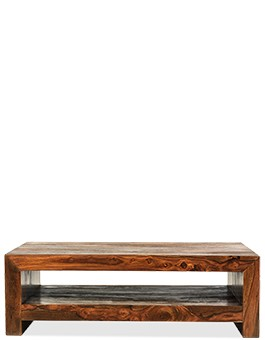Cube Sheesham Contemporary Coffee Table
