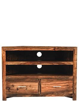 Cube Sheesham Corner TV Cabinet
