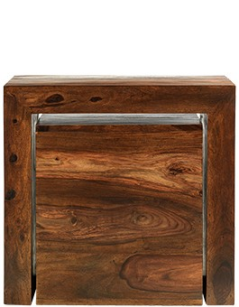 Cube Sheesham Cube Nest of Tables