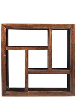 Cube Sheesham Display Multi Shelf
