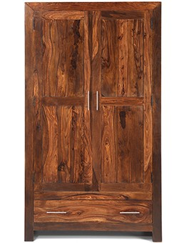 Cube Sheesham Gents Double Wardrobe