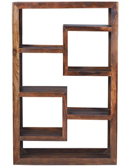 Cube Sheesham Geometric Bookcase