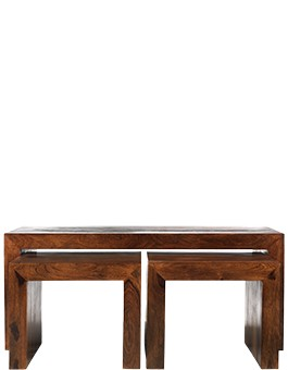 Cube Sheesham Long John Coffee Table