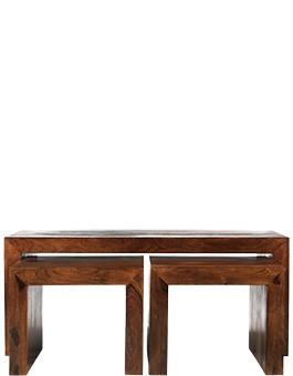 Cube Sheesham Long John Coffee Table