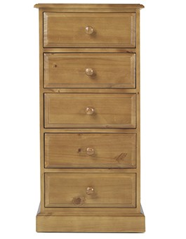 Essentials Pine 5 Drawer Tall Chest of Drawers