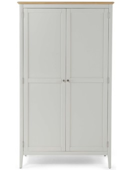 Merideth Painted Full Hanging Double Wardrobe