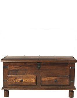 Jali Sheesham Thakat Coffee Trunk Box + Drawers