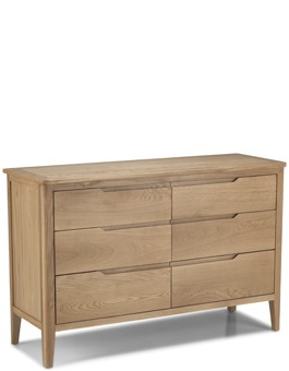 Kutaz Oak 6 Drawer Wide  Chest
