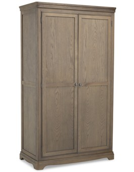 Kilmar Oak Bedroom Full Hanging Double Wardrobe