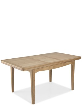 Kilmar Natural Oak Living & Dining Ext Dining Table 125/165cm