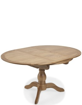 Kilmar Natural Oak Living & Dining Circular Extended Dining Table
